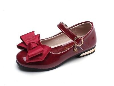 Girls Shoes With Bow-knot Fashion Wedding Party Dress Shoes For Princess - Girls Dress Shoes For Wedding