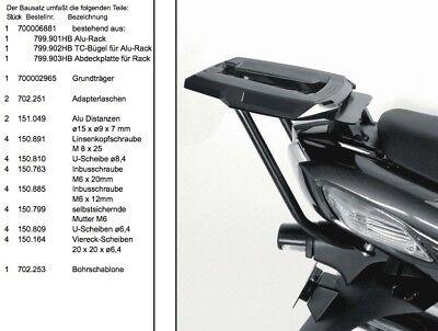 Hepco Becker Alurack Topcase Rack Black For Kawasaki ZZR1400 To 2011