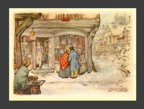 Curiosity Shop Old English * England Village Store Front ANTON PIECK * Art Print