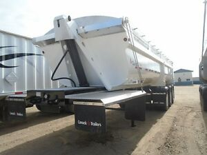 2013 Canuck end dump gravel trailer