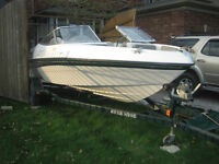 """FOUR WINE 17"""" power boat,Horizon 17 LE, out board 115 HP Johson"""