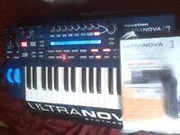 Novation ULTRANOVA synth interface midi synthesizer world class sound
