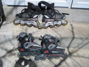 Nike roller Blade 8# $50,    SL 175 roller blade 36-39 junior