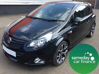 £175.04 PER MONTH BLACK 2013 VAUXHALL CORSA 1.6 VXR TURBO 3 DOOR PETROL MANUAL