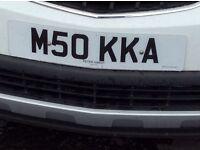 Personalised number plate - M50KKA