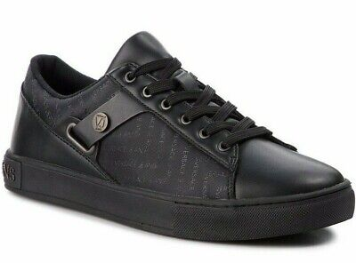 NW VERSACE Jeans sneakers trainers Black E0YSBSM4 nylon + leather