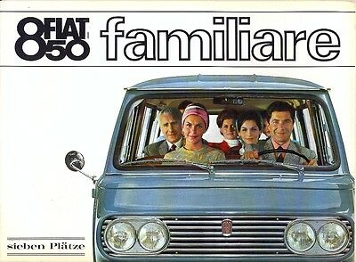 Fiat 850 Familiare German market sales brochure