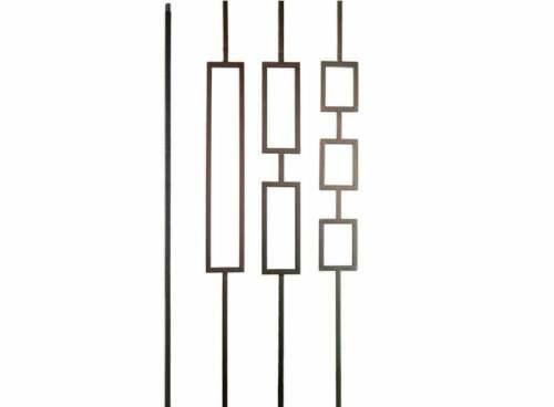 Satin Black Iron Balusters Iron Spindles Iron Stair Parts Liberty Series Squares