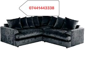 Large Plush Velvet Corner Sofa Sale