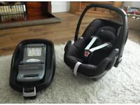 Maxi Cosi Pebble car seat (isofix base no longer available)