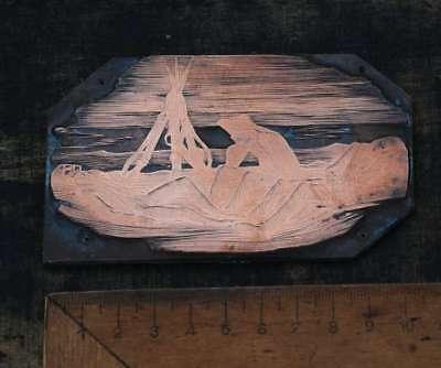 SOLDATEN Galvano Druckplatte Klischee Eichenberg printing plate copper print