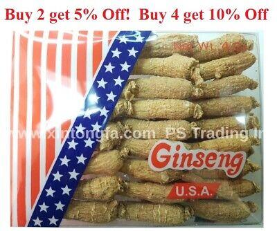 4oz to 1LB- 100% Small Wisconsin American Ginseng Root Long (#G1.1) 純正美国威州花旗蔘小長泡 Wisconsin American Ginseng