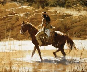 """Howard Terpning  """" The Captains Horse"""" canvas"""
