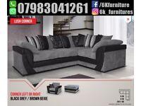 **25% off**Stylish FABRIC LUSH CORNER OR 3+2 seaters sofa