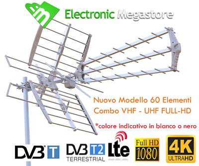 ANTENNA COMBINATA TV UHF/VHF MULTIBANDA PER DIGITALE TERRESTRE;FILTRO LTE