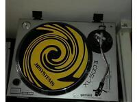 DJ turntable decks, Dj mixer and Speakers, amplifier not pictured