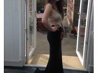 Prom dress size 10/12- jewel top with black