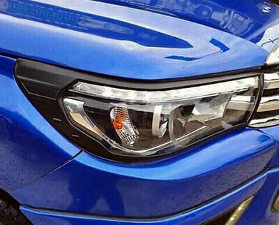 Toyota Hilux 2011-2016 CHROME FRONT HEAD LIGHT LAMP COVERS TRIMS SURROUND M206