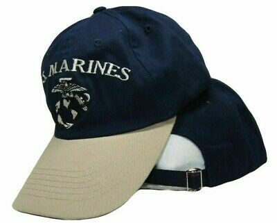 USMC Marine Hat Marines Navy Blue and Stone Khaki EGA Ball Cap Cover
