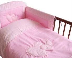 Baby duvet and pillow case + bumper