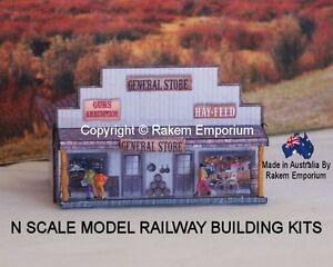 N Scale General Store Country Western, Model Railway Building Kit - NGSW