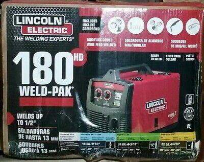 New Lincoln Electric 180 Amp Weld-pak 180 Hd Mig Wire Feed Welder With Magnum