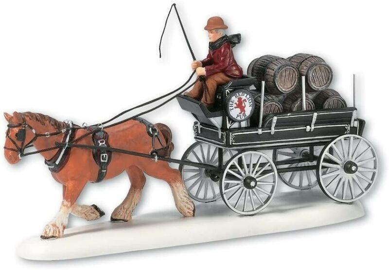 Red Lion Pub Beer Wagon Department 56 Dickens Village 58421 Christmas city Z
