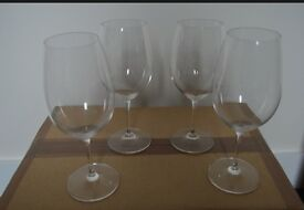 RIEDEL BORDEAUX GLASSES x4