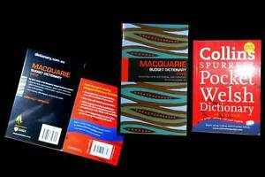 MACQUARIE + Collins Welsh Dictionary $7 for the pair Plse E-MAIL. Cranbrook Townsville City Preview