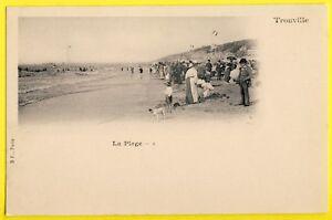 """cpa TROUVILLE en 1900 (Calvados) La PLAGE Belle Animations Enfants Nounou - France - État : Occasion : Objet ayant été utilisé. Consulter la description du vendeur pour avoir plus de détails sur les éventuelles imperfections. Commentaires du vendeur : """"Voir PHOTO, scan du dos de la Carte sur simple demande."""" - France"""
