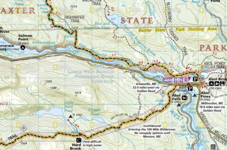 Appalachian Trail Complete Map Pack Topo Maps W/Wood Box National Geographic  - $129.95