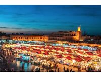 2 return flight tickets London - Marrakech 02.FEB - 04.FEB