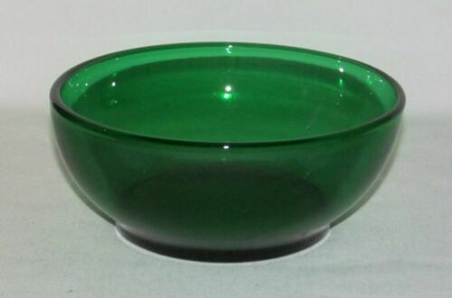 Anchor Hocking Glass Co. FOREST GREEN Round Cereal Bowl or Popcorn Bowl