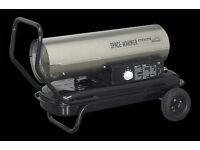 Sealey AB7081 70,000 btu/hr Space Warmer® Paraffin, Kerosene & Diesel Heater Stainless Steel