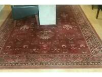Large pure wool rug in excellent condition