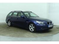 BMW 5 SERIES 2.0 520D SE TOURING 5d AUTO 175 BHP Leather Trim + (blue) 2008