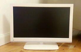 """White Trim 19"""" Portable Marks & Spencer LED TV /DVD Player"""