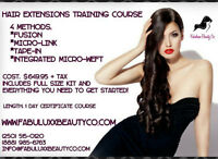 HAIR EXTENSION AND LASH EXTENSION CERTIFICATE COURSES!