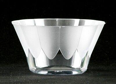 100 Einweg Eis- Dessertschalen 400ml, rund, glasklar