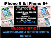 iPhone 6 & iPhone 6 Plus Unlocking, Water Damage and LCD Repairs