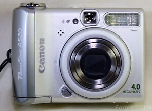 For Sale. Canon PowerShot A520 4MP Camera