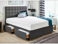 WANTED: King size divan bed with 4 drawers with or without mattress also single divan bed