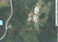 Gold placer lease 398480, Burns Mountain, Wells, B.C.