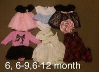 Girls 6-12 month lot
