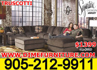 $1399 ASHLEY Truscotti Sectional - LOWEST PRICE IS GUARANTEED