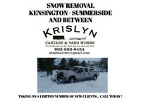 Snow removal - Kensington , Summerside and Between