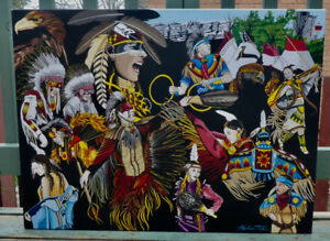 LIMITED EDITION FIRST NATIONS PRINT OF KALUM TEKE DAN PAINTING