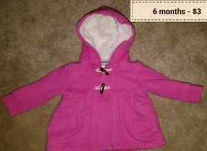 Baby girl clothing size 6 months