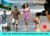 Video Editing Services - Home & Wedding videos - affordable fees