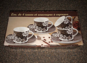 Espresso Cups & Saucers Set (Stokes - new)